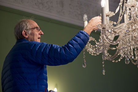 Changing the lights with more efficient bulbs
